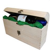 Wooden bottle chest