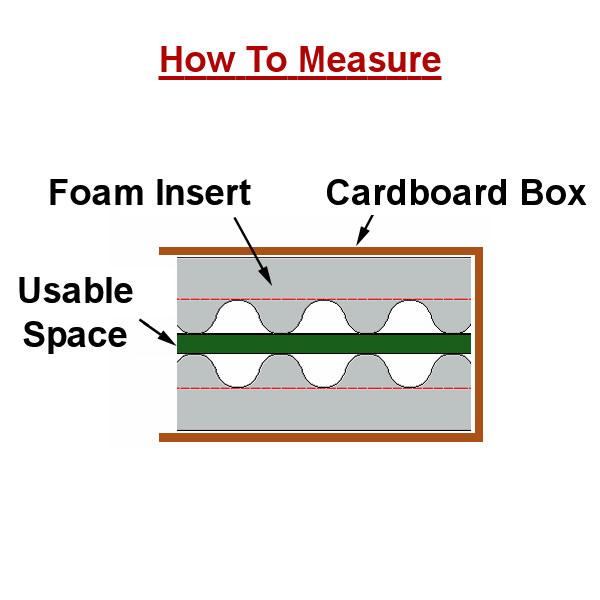 Measuring foam inserts
