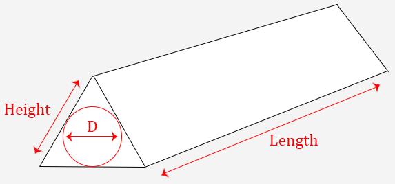 triangular tubes
