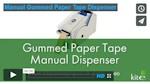 Gummed paper tape dispensers