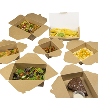 Kraft takeaway boxes with food - Medium