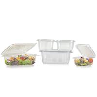 Plastic food bowls containing food - Medium