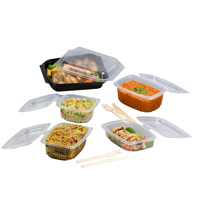 microwaveable plastic containers with food - Medium
