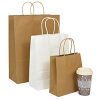 Twist handle paper carrier bags - Image 1 - Medium