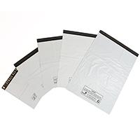 White polythene mailing bags - Image 1 - Medium
