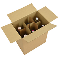 Wine bottle boxes with cardboard partitions - Image 1 - Medium